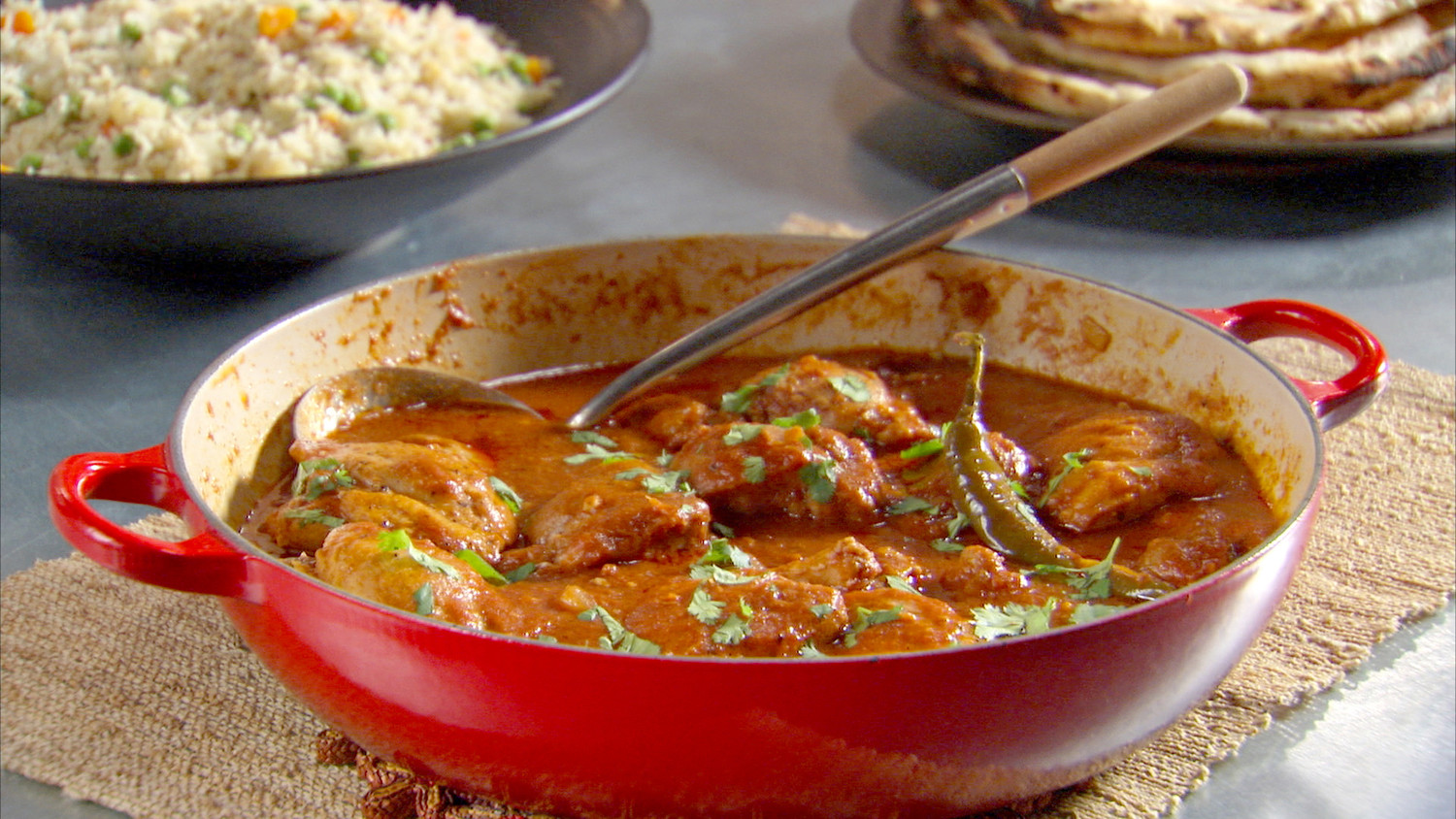 Indian spiced chicken recipe video martha stewart forumfinder Choice Image