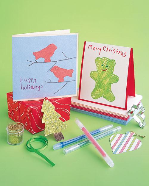 christmas cards for kids  martha stewart