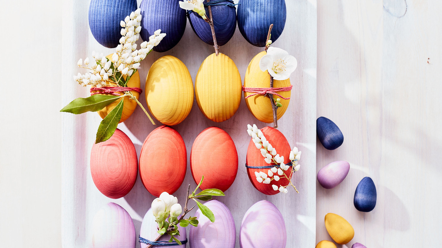 Dyed Wooden Easter Eggs