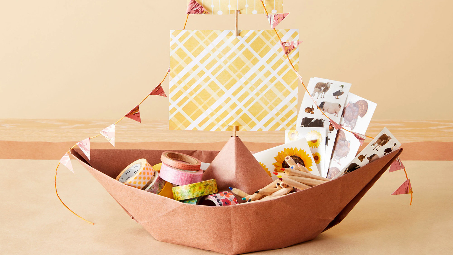 Paper Mayflower Ship