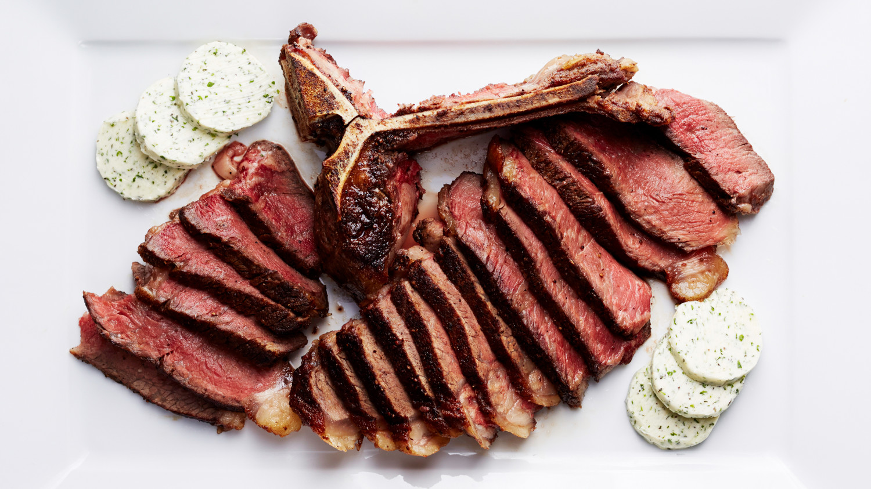 Seared porterhouse steak recipe video martha stewart for Porterhouse steak