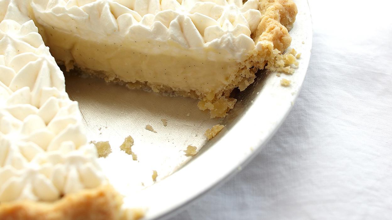rum-vanilla cream pie