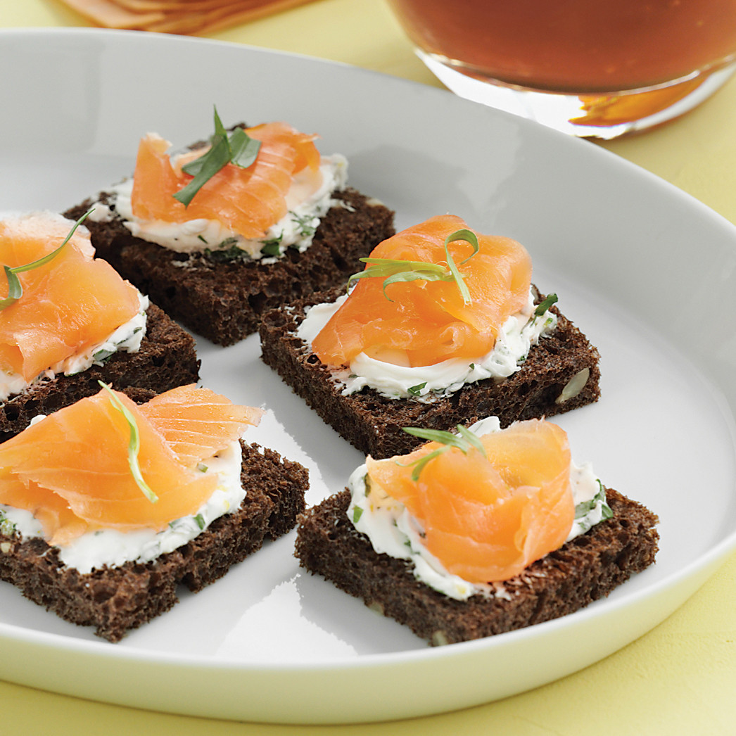 SmokedSalmon Canapes With Tarragon - Canapes