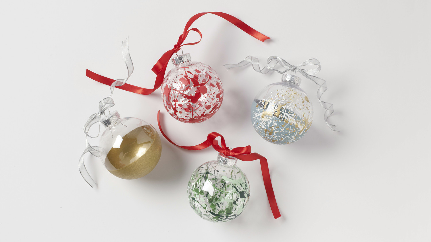 Splatter-Paint Ball Ornaments
