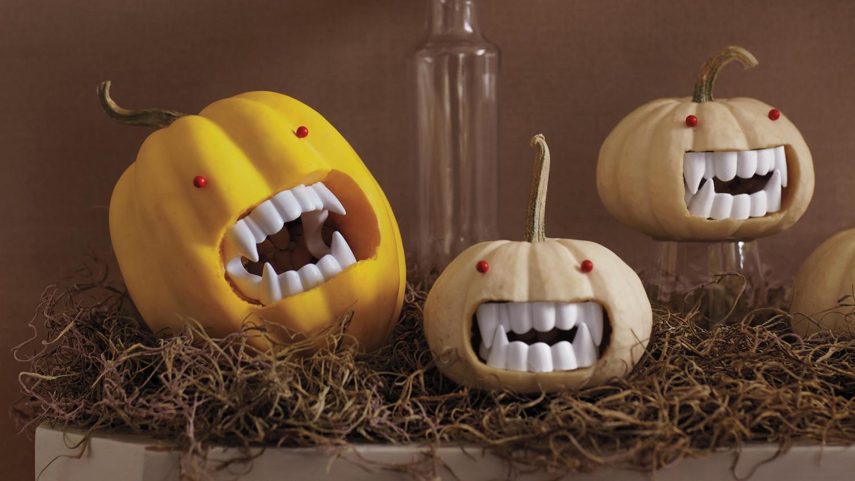 Fanged Vampire Pumpkins Martha Stewart