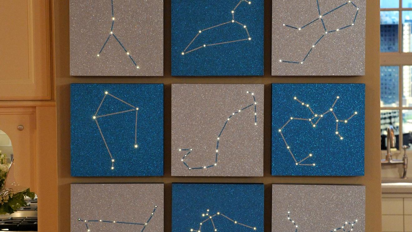 & Zodiac Constellation Wall Art u0026 Video | Martha Stewart