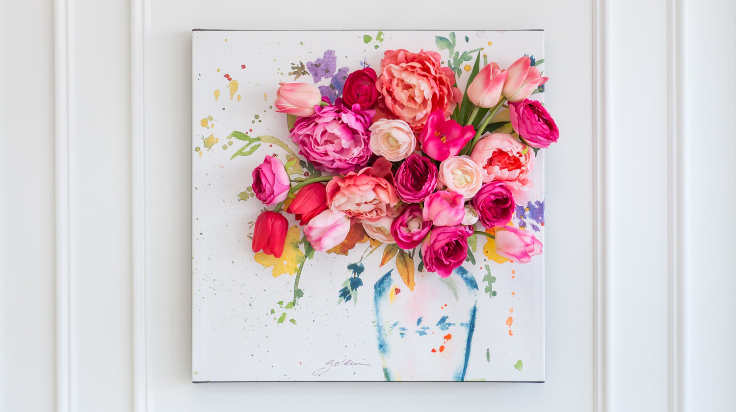 3 d floral canvas wall art