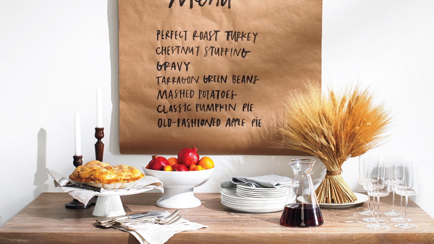 Thanksgiving Menu Banner