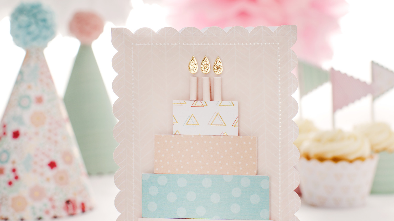 Martha Stewart CricutR 3 D Birthday Cake Card