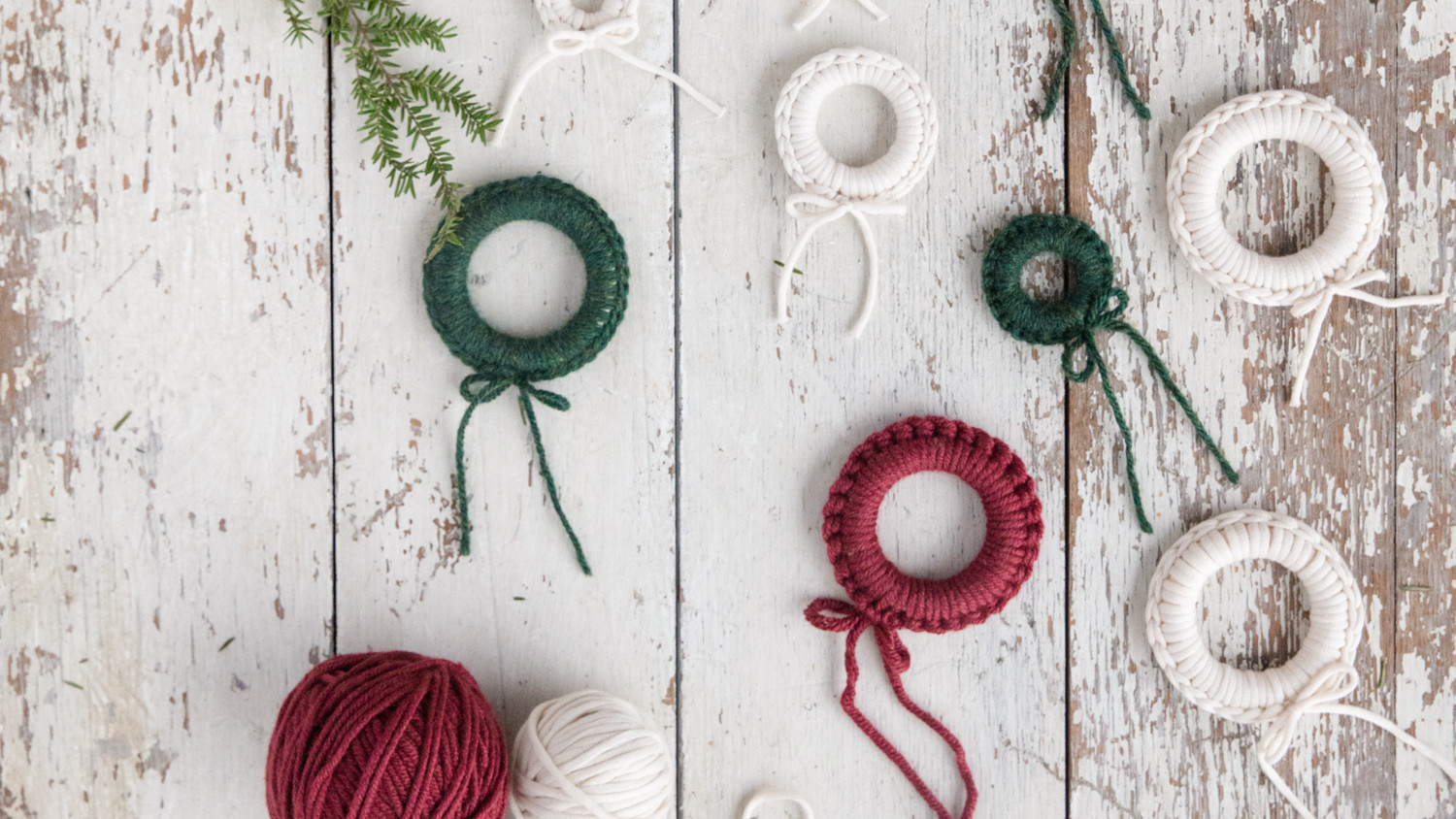Miniature Crochet Wreath