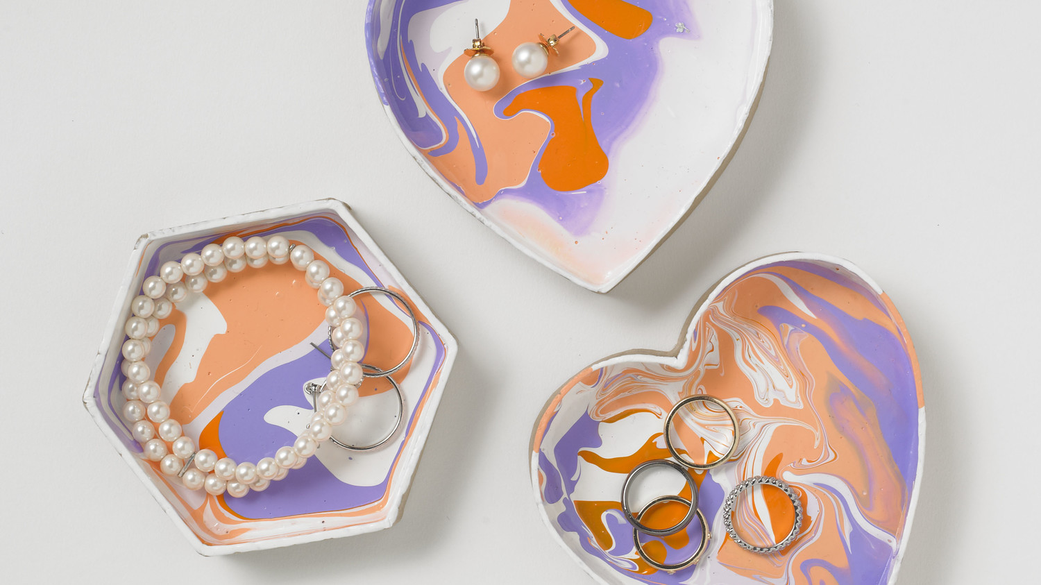 Marbleized Jewelry Dishes