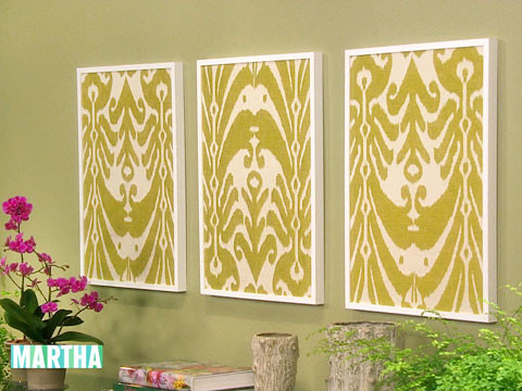 Video: Framed Fabric | Martha Stewart