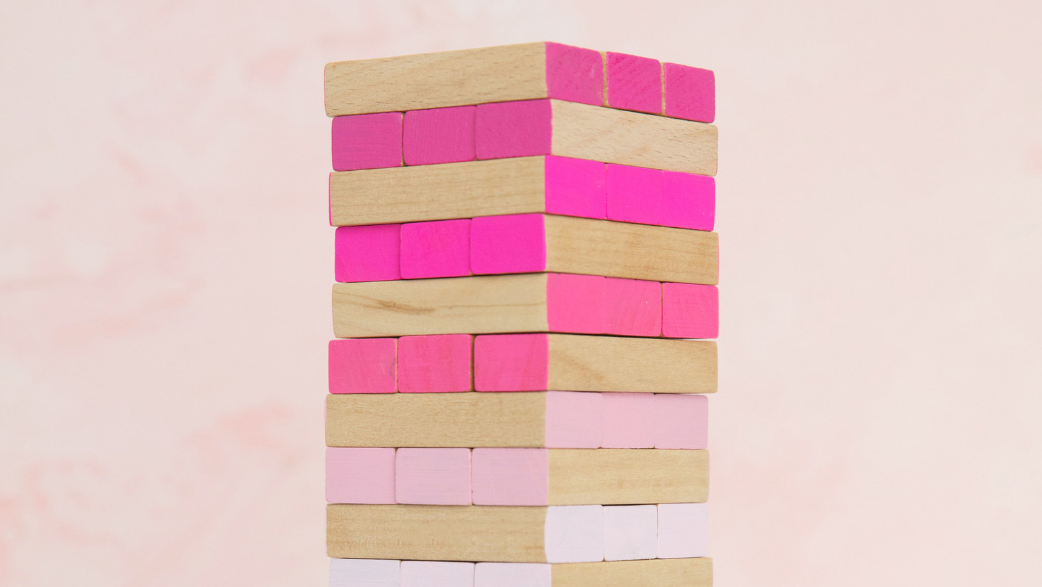 Ombre Tumbling Tower Game