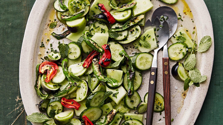 blistered shishito-pepper salad
