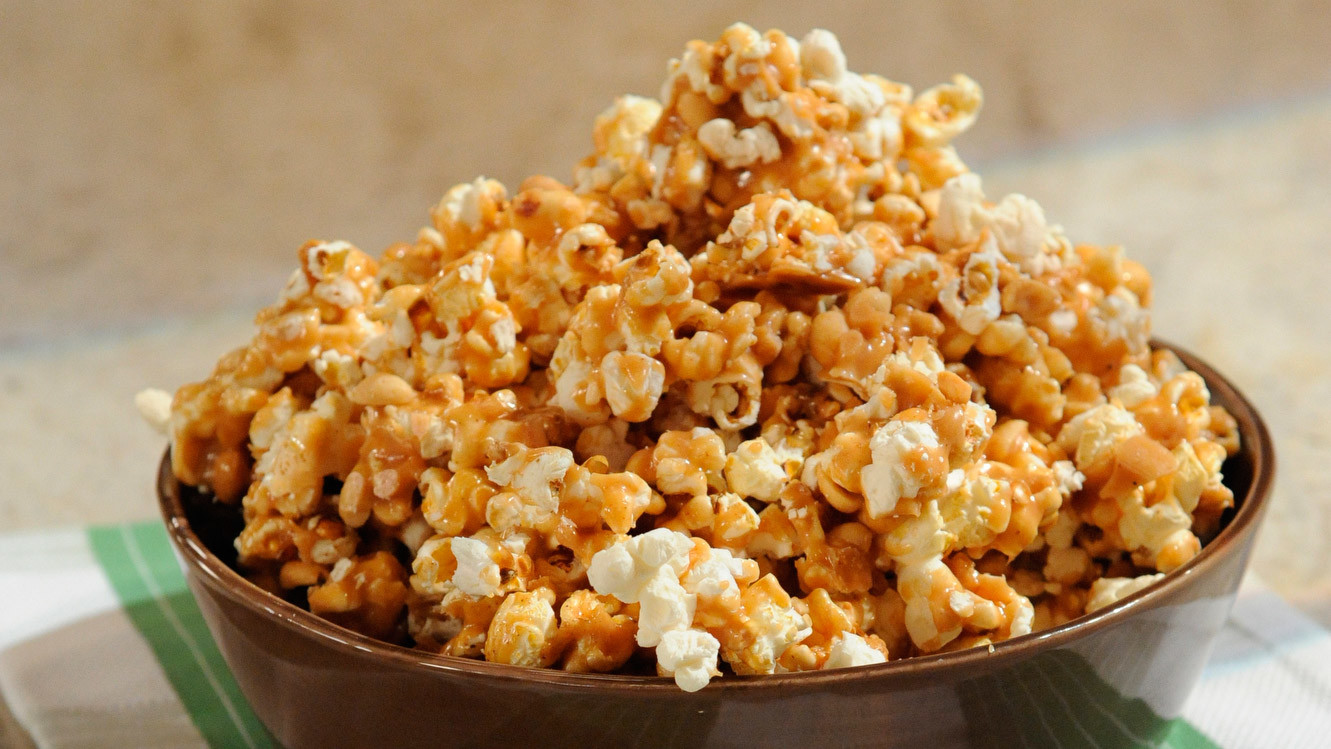Spicy Caramel Popcorn With Peanuts Recipe Amp Video Martha