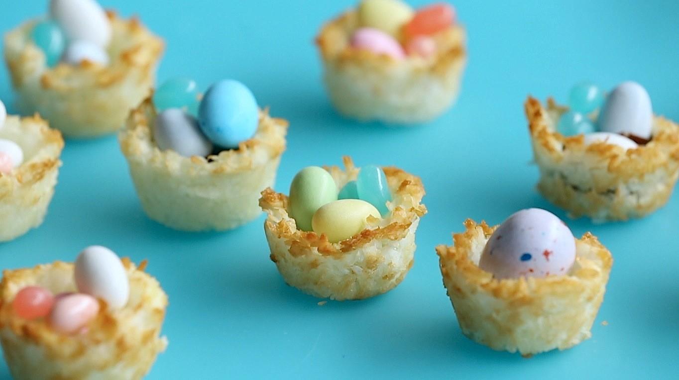 Video Coconut Macaroon Easter Baskets Martha Stewart