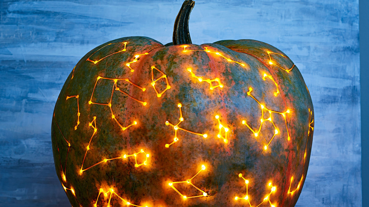 Constellation art pumpkin