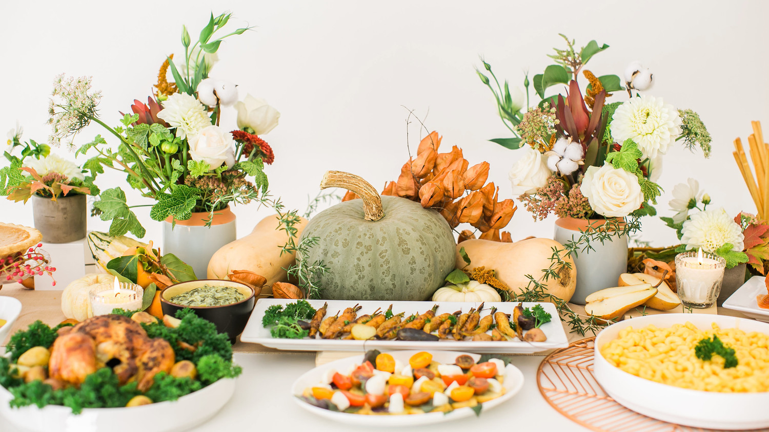 thanksgiving food flowers gourds