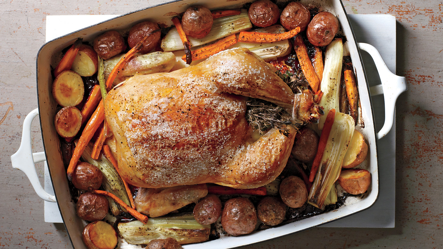 how to cook a whole chicken without a roasting pan