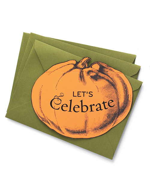 Pumpkin-Top Invitations | Martha Stewart