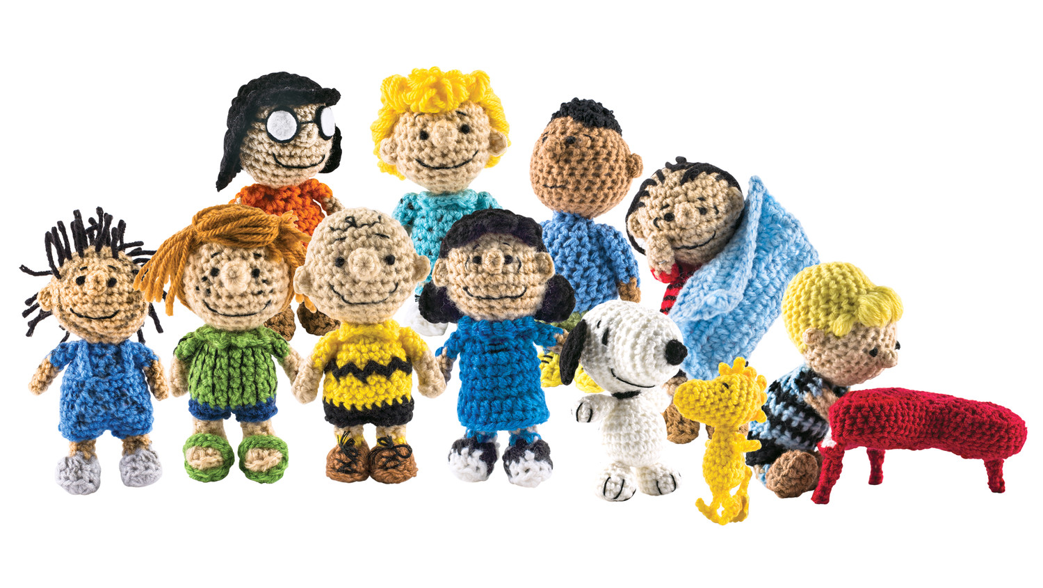 Cartoon Characters Knitting Patterns : The peanuts gang is back as a cast of crocheted