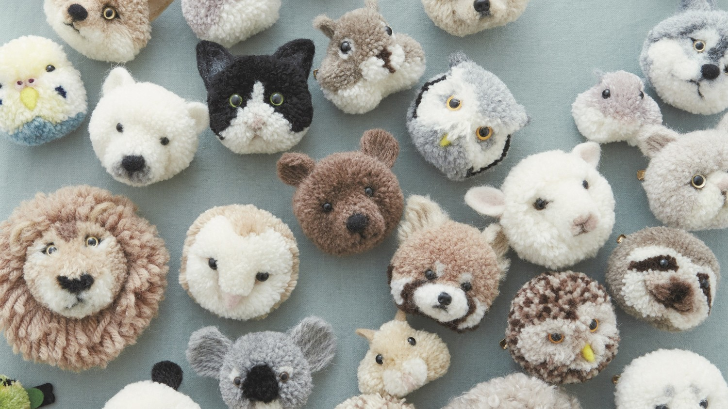 make these adorable pompom animals from japanese crafter