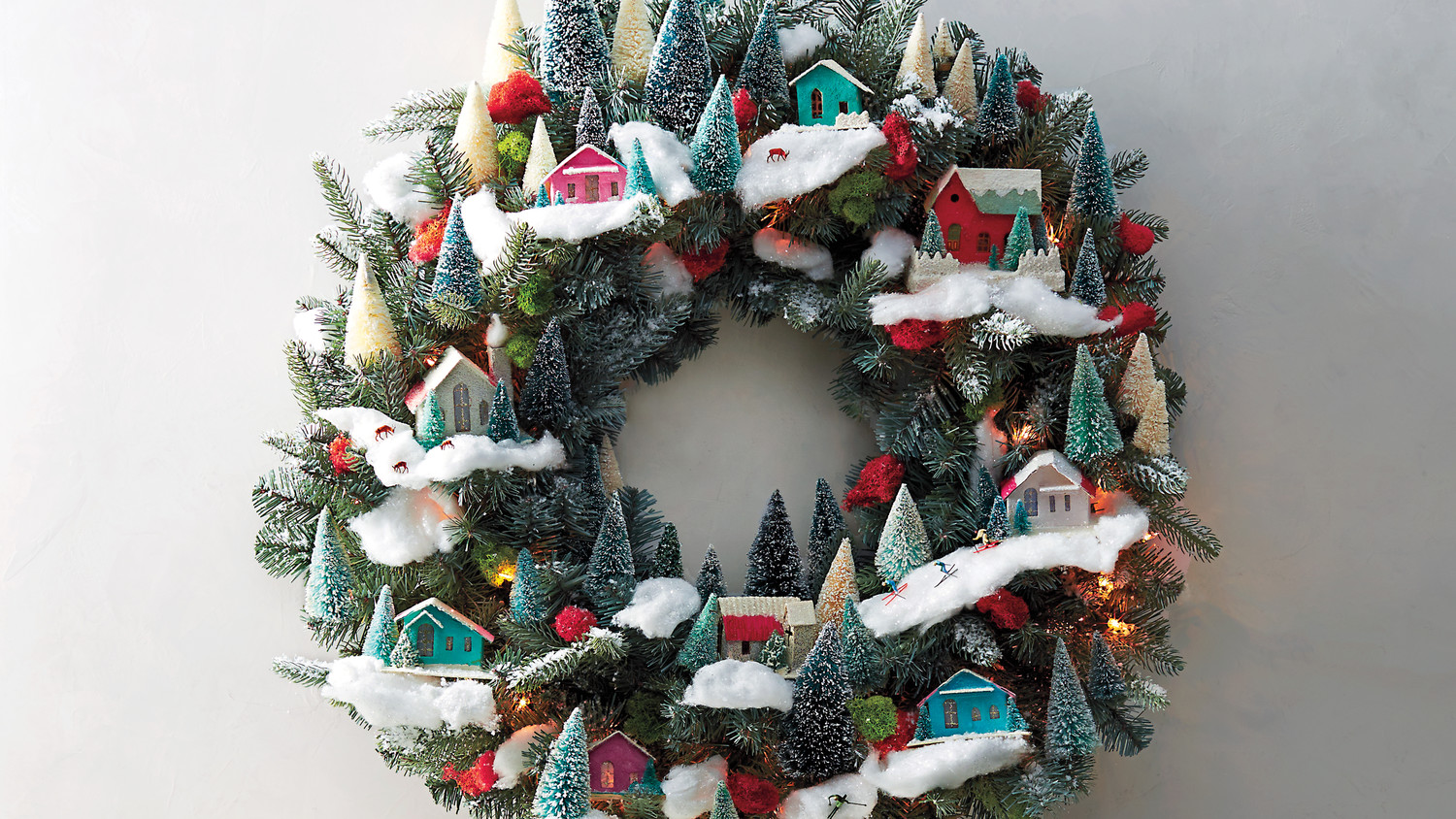 Magical Village Themed Christmas Wreath Martha Stewart