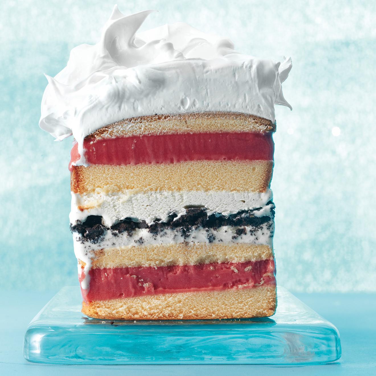 Frozen Pound Cake Ice Cream Cake
