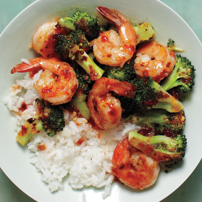 Spicy Shrimp And Broccoli Stir Fry