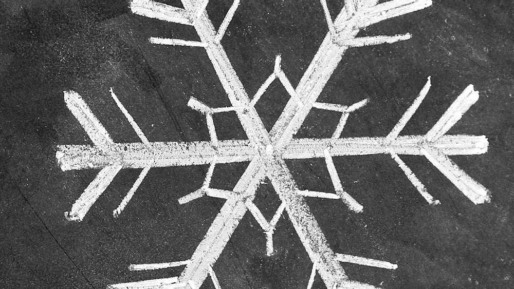 Simple Snowflake Chalk-Art