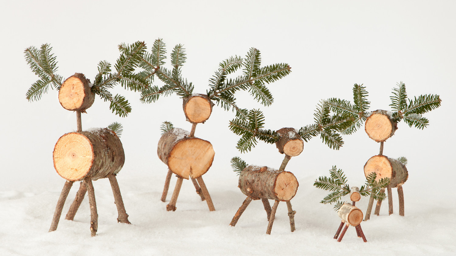 ChristmasTree Deer Craft  Martha Stewart
