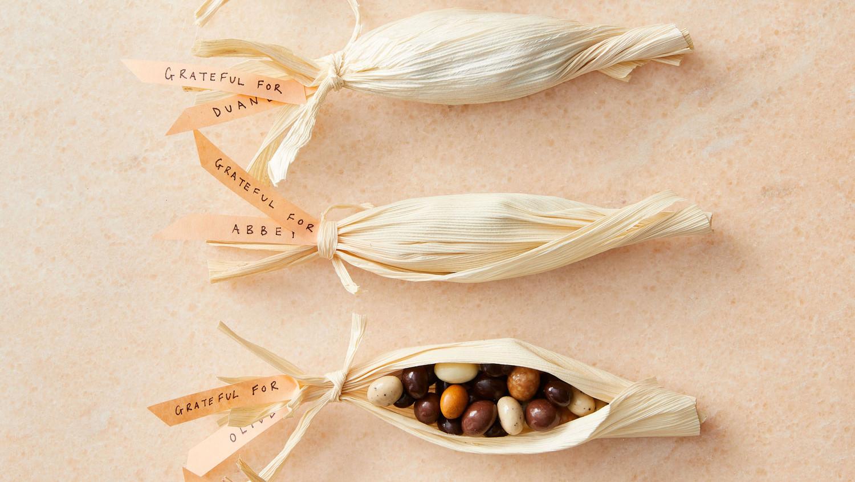 Corn Husk Candy Favors