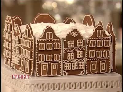 Video Decorated Gingerbread House Cake Martha Stewart