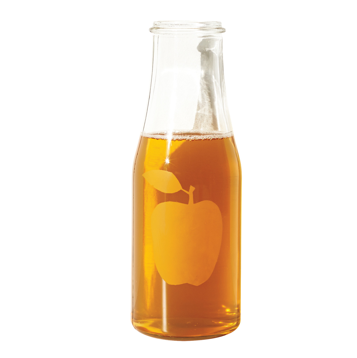 Apple Glass-Etched Carafe