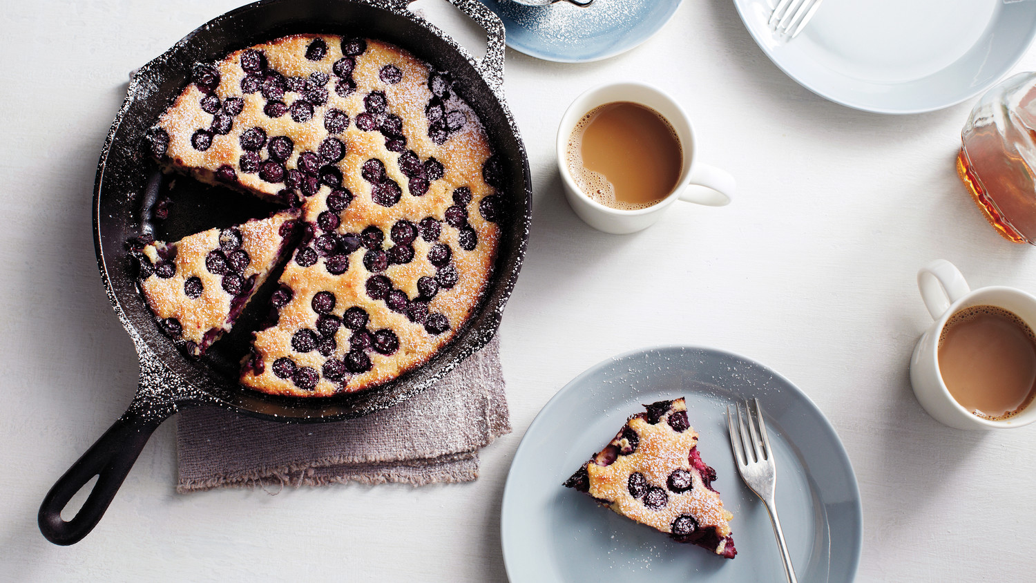 Oven-Baked Blueberry Pancake