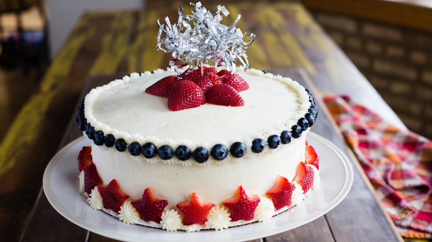 Star Spangled Strawberry Cake Martha Stewart