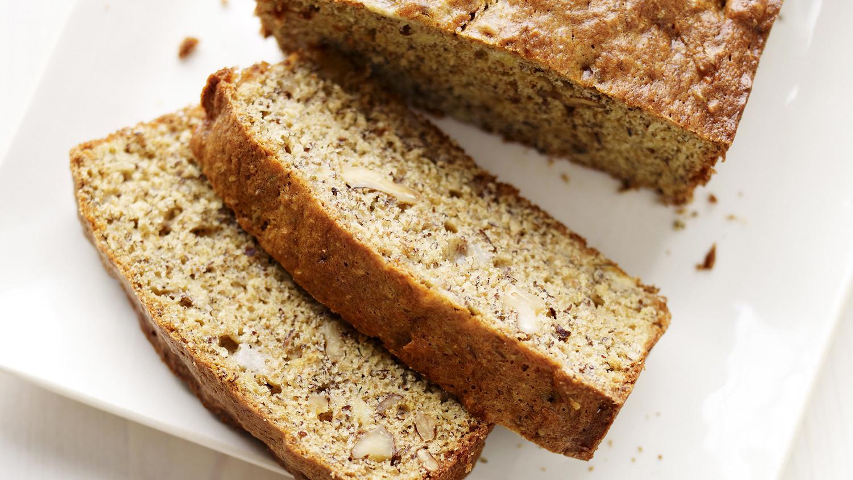 Banana Walnut Flax Seed Bread