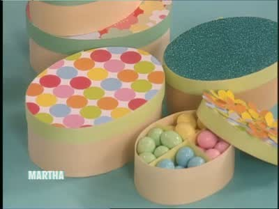 Video Decorative Candy Boxes For Easter Martha Stewart Adorable Decorative Candy Boxes