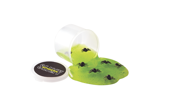 Green Slime-in-a-Jar with Bugs