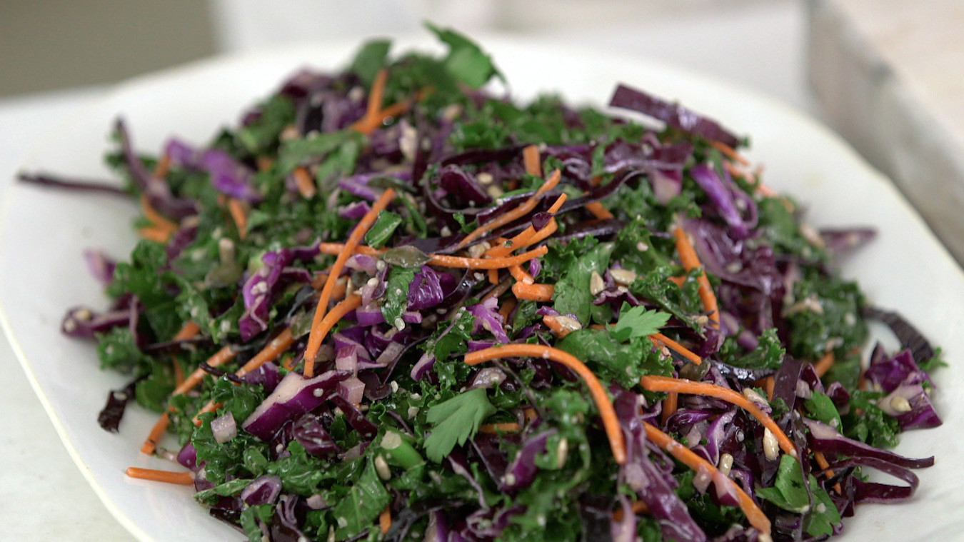 Kale Red Cabbage And Carrots Slaw Horiz