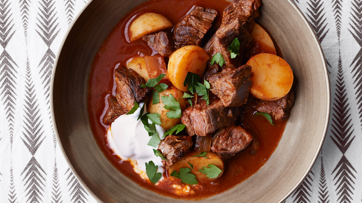 Beef Goulash With Potatoes Recipe Martha Stewart