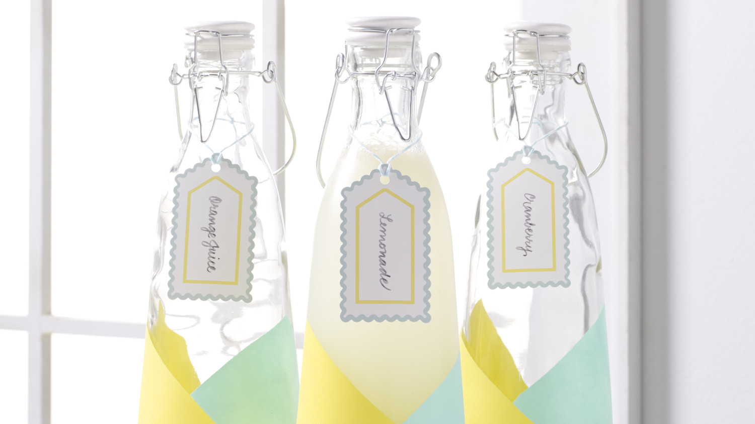 Martha Stewart's Color-Blocked Carafes