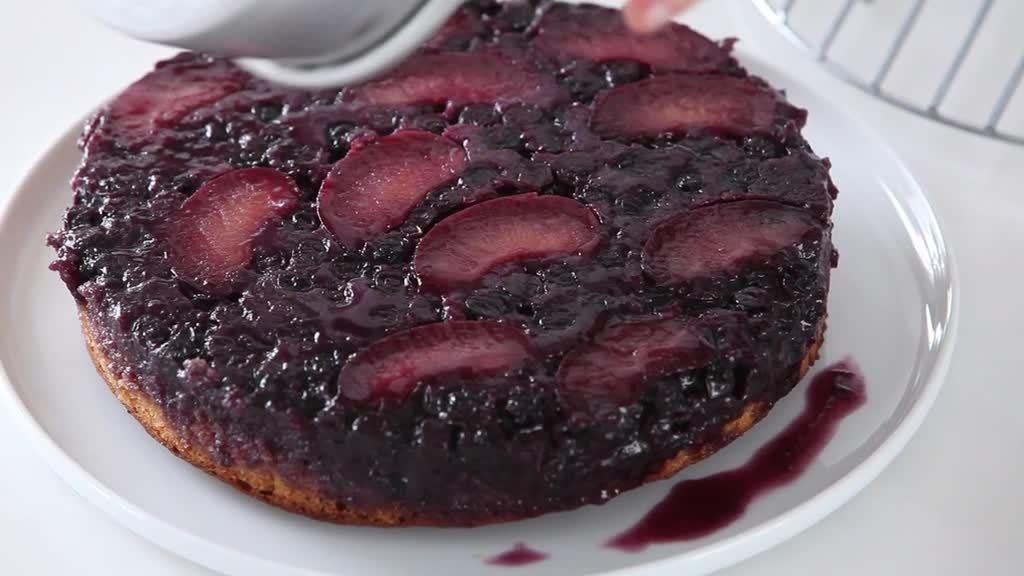 Video: Plum Blueberry Upside-Down Cake   Martha Stewart