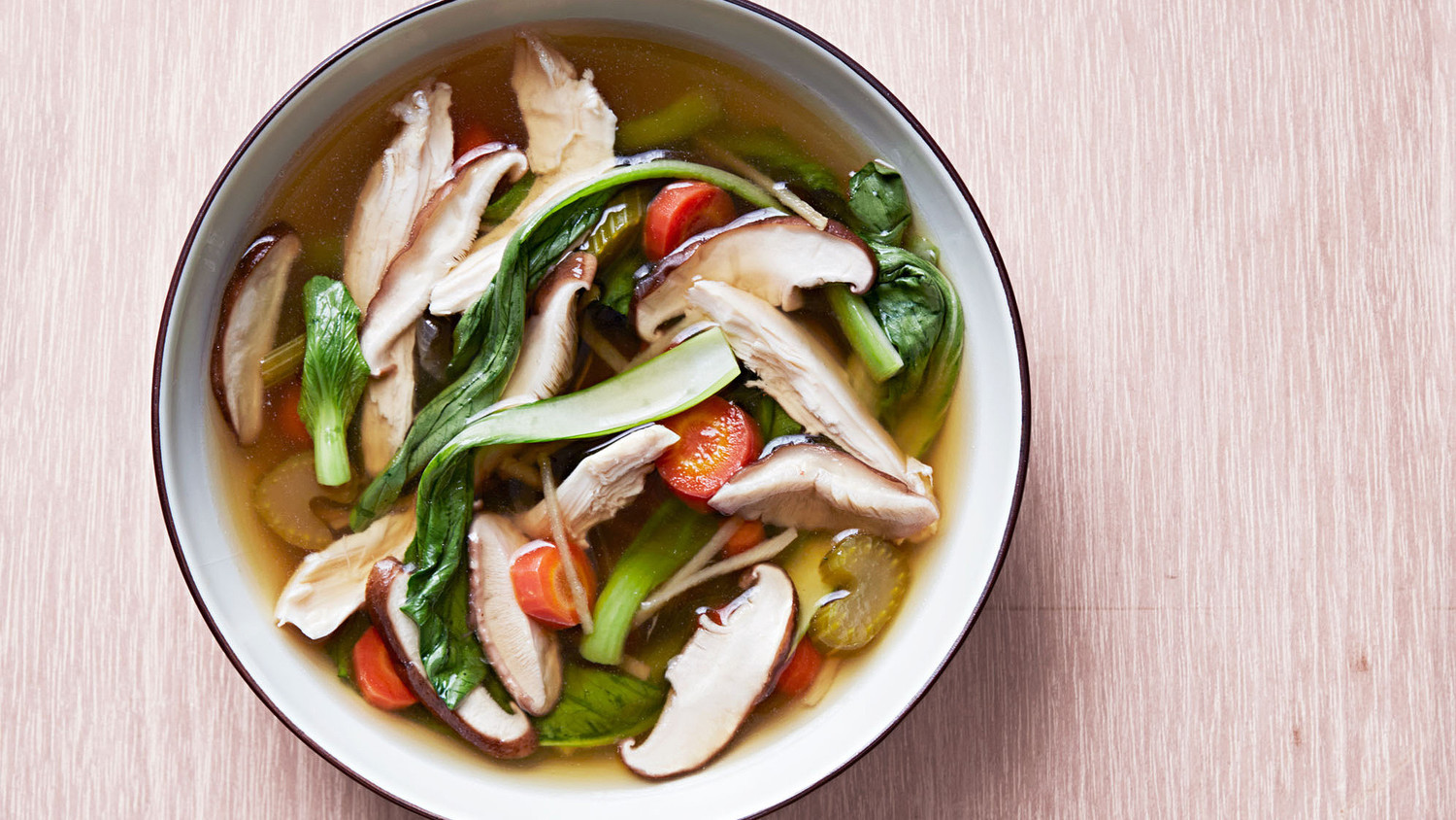 Restorative Chicken Soup With Ginger