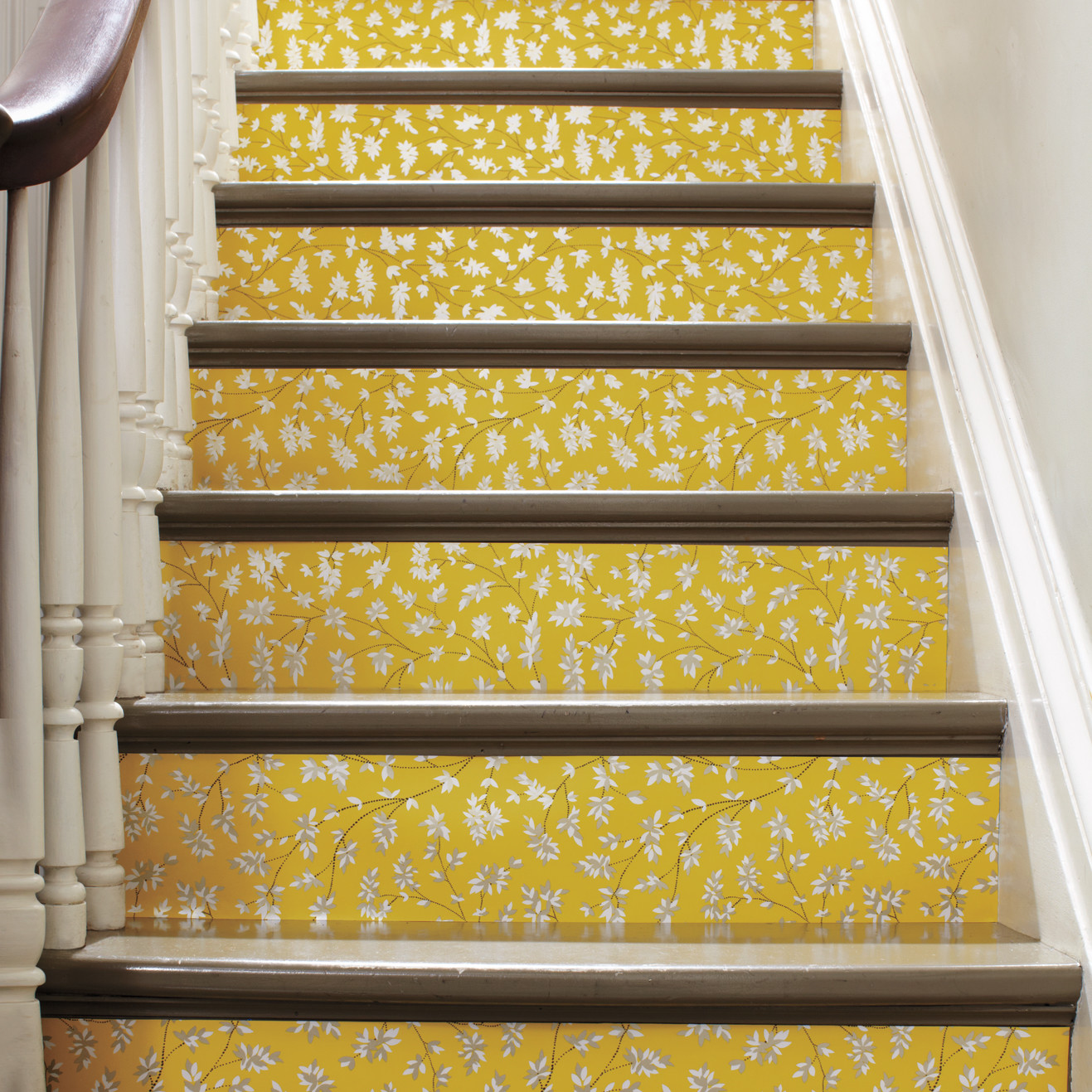 Wallpapered Stairs | Martha Stewart
