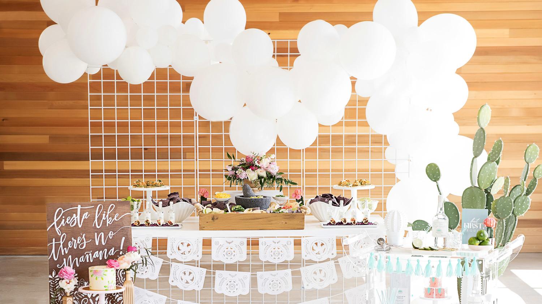 cinco de mayo floral fiesta treats table