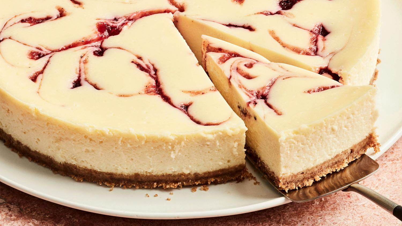 Cranberry Swirl Cheesecake Double Layer Cheese Cake Original