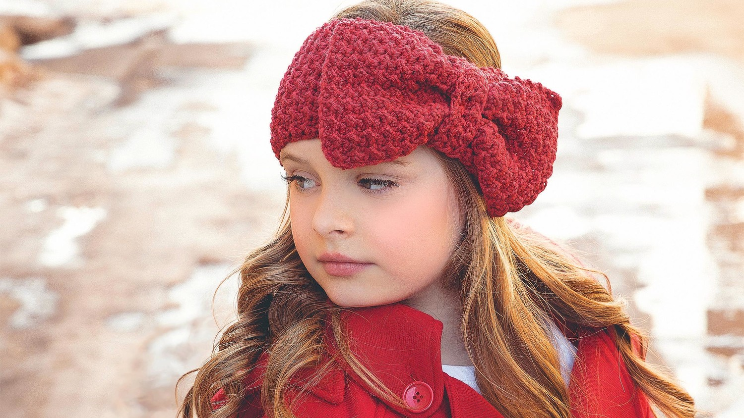 Crocheted Headband with Floppy Bow