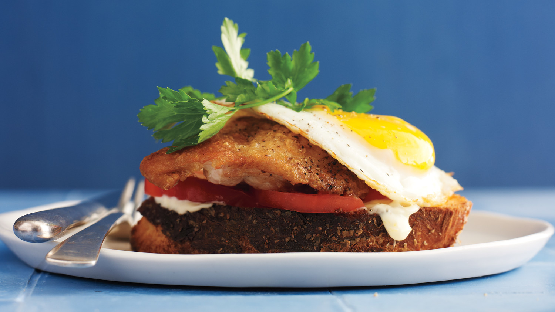 Crispy Chicken And Egg Sandwich