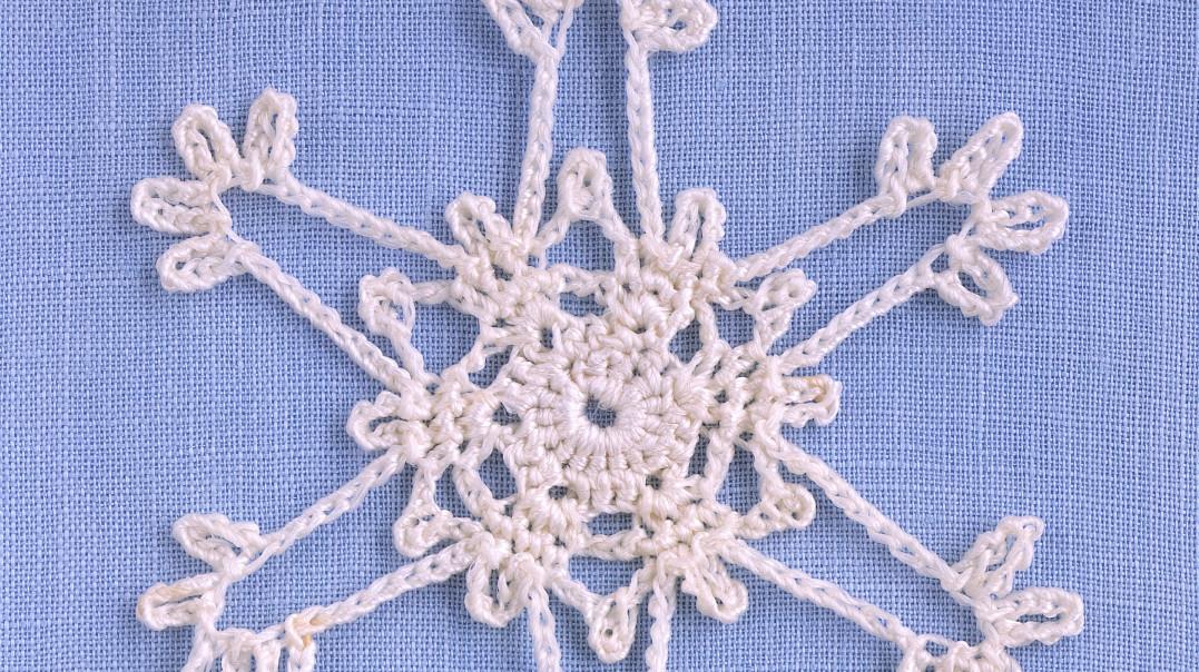 Dainty Crocheted Snowflake Martha Stewart